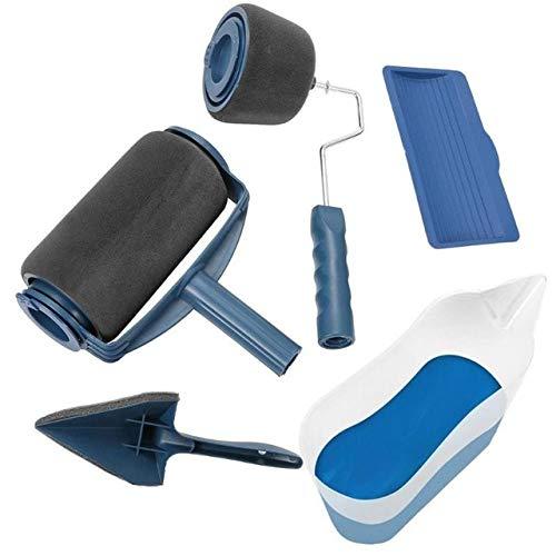 5/8 stks Paint Roller Multifunctionele Huishoudelijke Gebruik Muur Decoratieve Verf Roller Borstel Tool Schilderen Borstels Set A