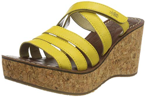 Fly London Gove620fly, Mules Femme, Jaune (Bright Yellow 004), 39 EU