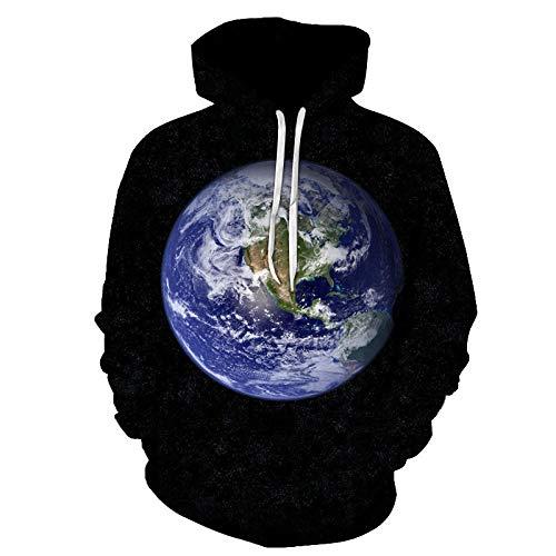 STaemin Impresión Digital Dardos giradiscos suéter Sudadera con Capucha 3D Hombres y Mujeres Pareja suéter con Capucha Marea-3_2XS