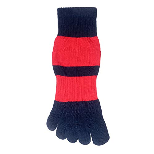 GXSox Orteil Sox 6 Packs Chaussettes Toe Hommes Automne, Hiver Modèles Coton Mouvement Tube Cinq Chaussettes Sweat Courir Absorbant Toe Chaussettes Orteils (Couleur : Red)