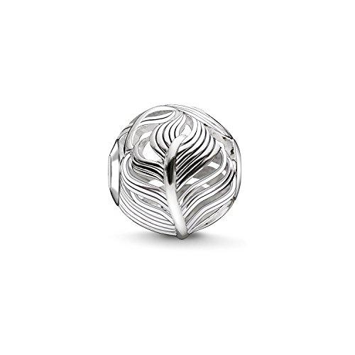Thomas Sabo Women Men-Bead feather Karma Beads 925 Sterling Silver K0221-001-12