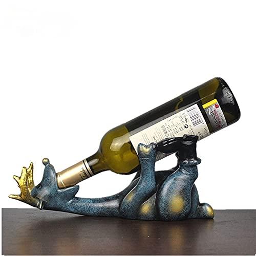 Portabotellas de vino WANZSC de resina, 14 cm, figuras, europeo, creativo, acostado, ciervo, adorno, animal, botellero, decoración, hogar