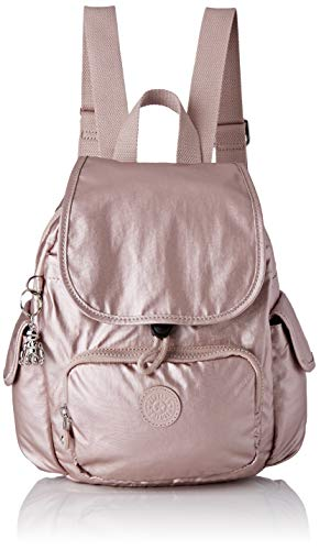 Kipling Damen City Pack Mini Rucksack, Pink (Metallic Rose), 27 x 33,5 x 19 cm