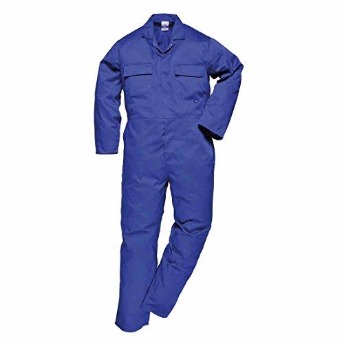 Portwest - Mono de trabajo de polialgodón S999RBRS de estilo europeo, tamaño normal, tallaS, azul marino