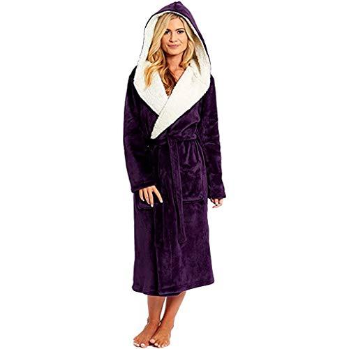 Zilosconcy Vestidos de Mujer Bata Camisón Terciopelo Coral Engrosado Otoño Invierno Bata de Casa Suelta Calentito Barato Talla Grande Batas de baño Albornoz Lana