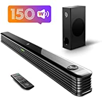 Bomaker 150W 2.1-Channel Sound Bar with Wireless Subwoofer & Bluetooth