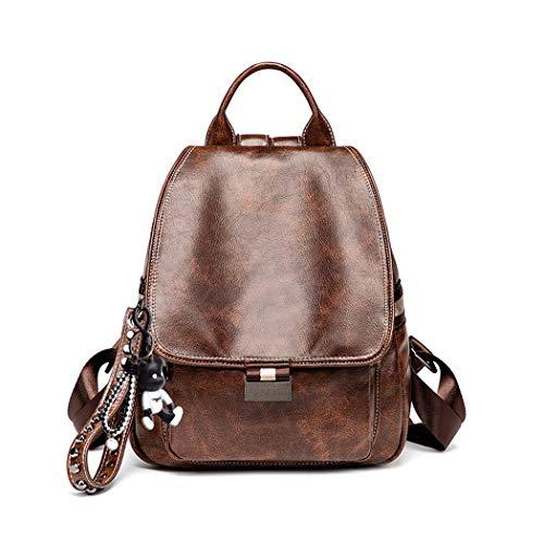 BUKESIYI Women's Backpack Handbags Rucksack Shoulder Bags PU Leather Mini Kawaii Anti-theft CCUK78225 Coffee