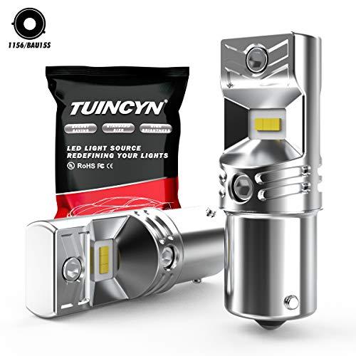 TUINCYN Ampoules de frein à DEL extrêmement brillantes BAU15S 6500K Puces CSP haute puissance blanches 7507 1156PY PY21W Feu de recul inversé Clignotants clignotants Ampoule infrarouge intérieure 12v-24V DC