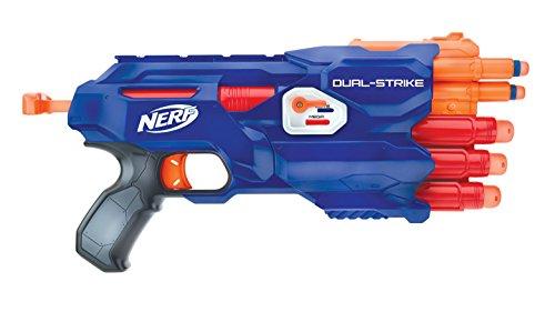 Nerf Special Edition Dual Strike Elite and Mega Blaster With Bonus Double Dart Ammo!