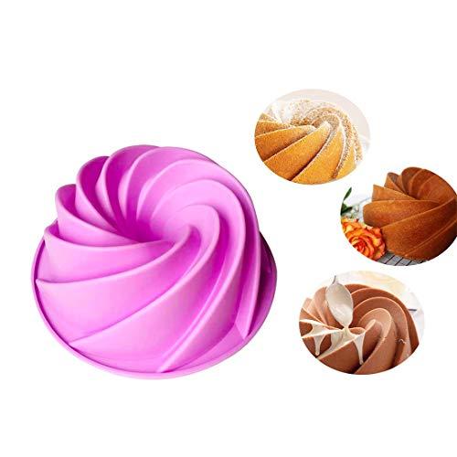 Polly Online Moule a Gateau Moule à l'arrosage Casseroles de Nourriture Moule à Tarte au Silicone en Forme de Tourbillon Outils de Cuisson de Cuisine pour gâteaux