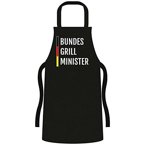 Coole Grill BBQ Schürze - lustige Fun Sprüche - Party Kochen Smoker Grillen 007 Bundes Grill Minister