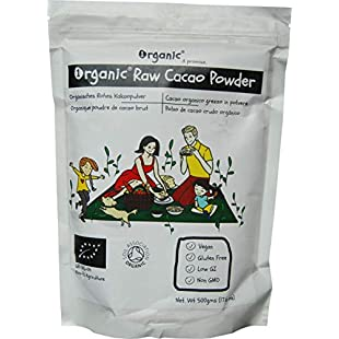 Cacao/Cocoa Powder, Raw, 100% Organic Certified, Pure, Natural, 500g