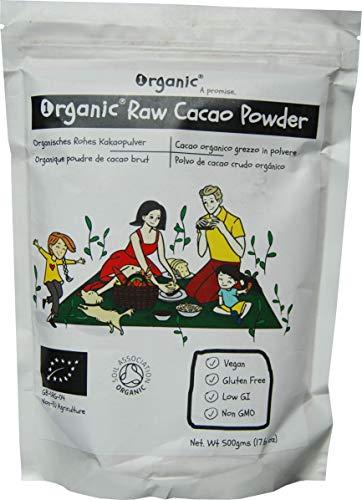 Cacao/Cocoa Crudo in Pulvere, 100% certificata ORGANICO/BIOLOGICA, pura, naturale, 500g
