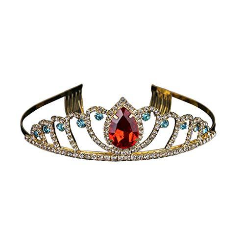 FRCOLOR Enfants Coloré Brillant Cristal Bandeau Princesse Couronne Cheveux Hoop Filles Chapeaux Cheveux Accessoires
