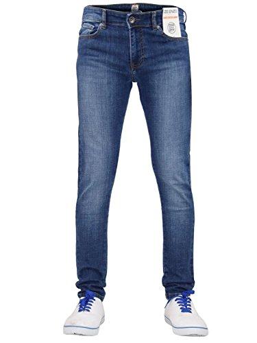 Enzo Heren Skinny Denim Jeans Super Stretch Rechte Broek