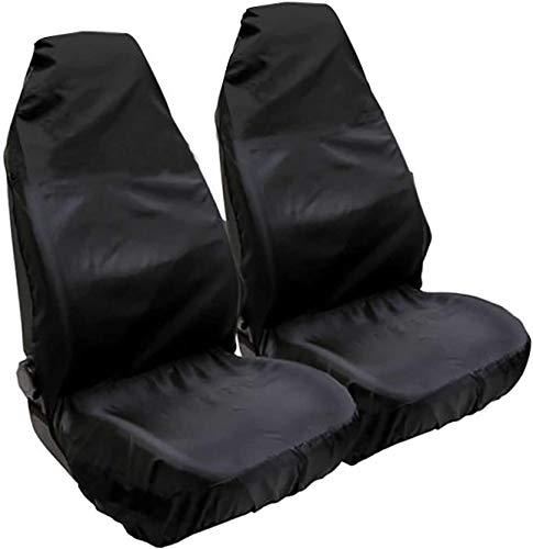 Nubstoer - Juego de 2 fundas universales para asientos delanteros de coche, impermeables, de nailon, se adapta a la mayoría de los vehículos, asientos deportivos y de fácil limpieza