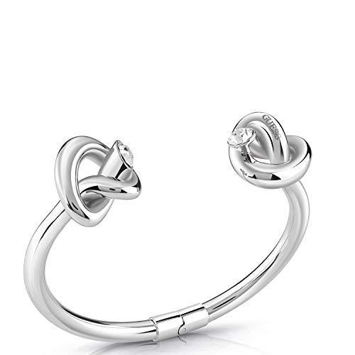 Guess Damen-Armreif DOUBLE KNOT Edelstahl One Size Silber 32011719