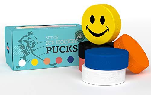 VEGUM Eishockey Puck Mischung aus 6 Pucks für Verschiedene spezielle Eishockey Training