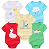 AOMOMO Unisex-Baby Newborn Twins Long-Sleeve...