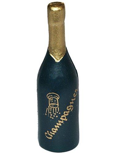 alles-meine.de GmbH Miniatur Champagner Flasche - für Puppenstube Maßstab 1:12 - Flasche Champagnergläser Puppenhaus Sekt Puppenküche