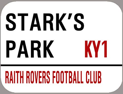 Inga Raith Rovers Stark'S Park Plaque décorative rétro en métal 20,3 x 30,5 cm