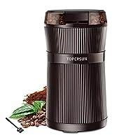 topersun macinacaffè elettrico con lama 200w lame in acciaio inossidabile macina chicchi di caffè frutta a guscio spezie grano nero semi coppa interna lavabile