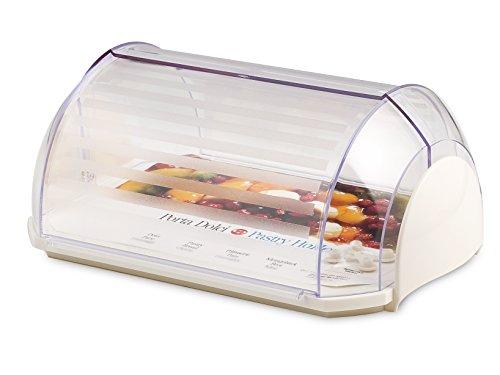 Cosmoplast Saturno Boîte de Transport Rectangulaire, Plastique, Blanc/Transparent