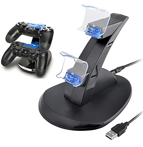 PS4 Controller Charger, Playstation 4 / PS4 Slim / PS4 PRO / PS4 Controller Charger, Charging Station, Charging Station, Dual USB Fast Charging Ps4 Station for Sony PS4 Controller by IHK
