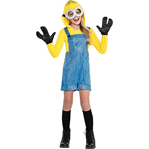 Party City Minion Halloween Costume for Girls, Minions 2, Extra Large 14-16, Includes Jumpsuit, Goggles and More