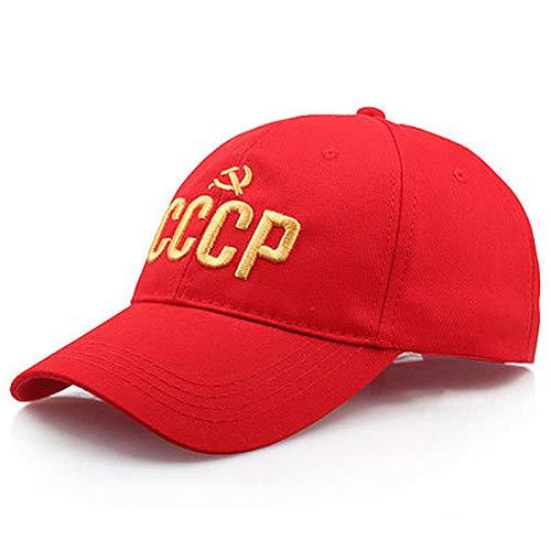CXKNP Gorra De Beisbol Sombrero Unisex Ruso Soviético Gorra De Béisbol Caliente Señoras Hombres Cottonsnapback Sombrero Bordado 3D Hip Hop Sombrero