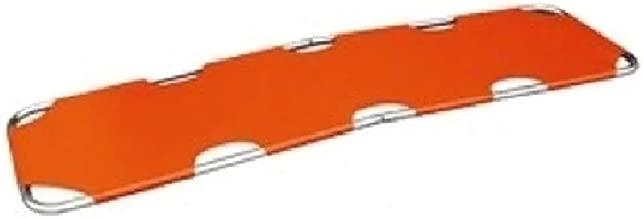 LINE2design Emergency Rescue Flat Foldaway Portable Stretcher with Two Steel Bars- Orange