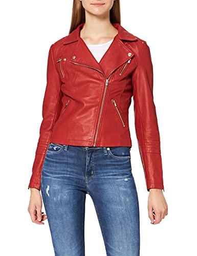 ONLY rote Biker-Jacke