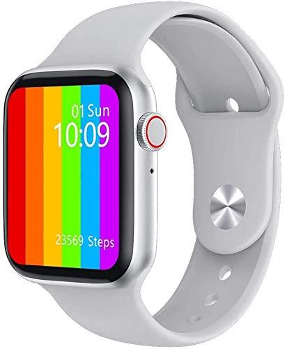 CRFYJ 1,75 Pulgadas 320 * 385 HD Elegante de la Pantalla del Reloj de los Hombres 2020 Temperatura PPG + ECG Cuerpo Llamada Bluetooth for Iwo w26 SmartWatch (Color : White)