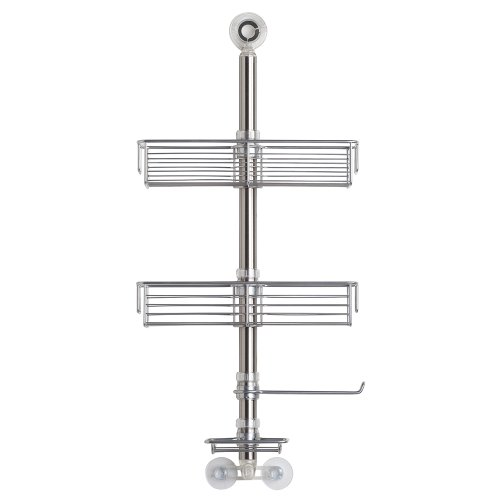 InterDesign シャワーラック 風呂 バスルーム 2段 Forma マット ステンレス 46070EJ