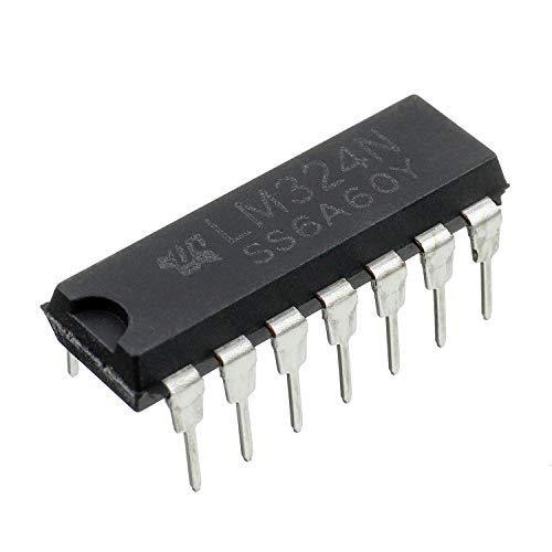 BOJACK LM324N amplificador operacional de cuatro canales 14 pines DIP-14 (paquete de 25 uds)
