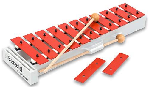 Betzold Musik 6960 - Glockenspiel Kinder A in Sopran - Xylophon Stabspiel Instrumente lernen Schule Schüler