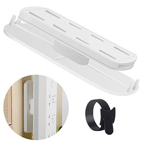 2 regletas autoadhesivas, soporte para placa de alimentación sin perforar, para montaje en pared, regleta para mando a distancia, router WiFi