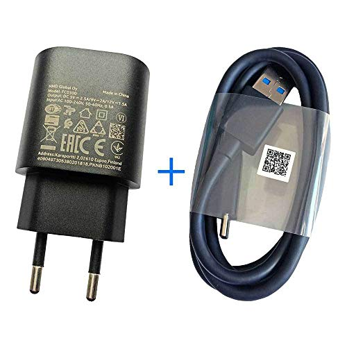 [Mainhattan Mobile] Original Nokia AC-100 EU Adapter + CA-232D USB 3.1 Typ C Datenkabel
