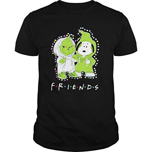 Merry Christmas G rinch and Sn o opy Friends Shirt mesh Gift Bags with Drawstring 5x7 xxl Mens T Shirts