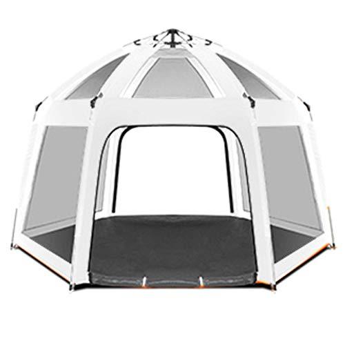 TYUIOO Tiendas de campaña/Carpa con Sala de Pantalla Hogar Automático Carpa al Aire Libre Impermeable 3-4 Personas Picnic Camping Tienda de campaña Tienda para Acampar (Color : White)