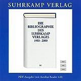 Die Bibliographie des Suhrkamp Verlages 1950-2000, 1 CD-ROMPDF- Ausgabe (mit Acrobat Reader 4.0). Für Windows 95/98/ME/NT/2000/XP und Power-Mac OS 8.6 oder höher