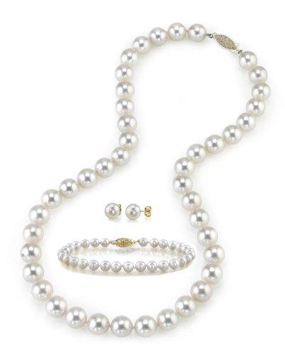 6.0–6.5mm bianco perla collana, bracciale e orecchini set, lunghezza 45,7cm Princess–Qualità AA +
