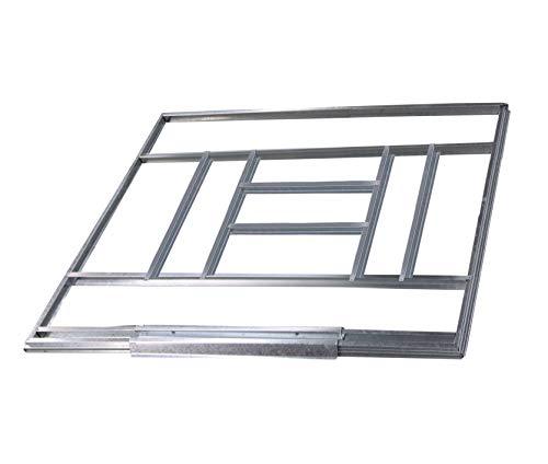 GARDIUN KIS14007 - Estructura Metálica para Pre-instalación de Suelo Casetas de 7.74 m² - 311 x 231 cm