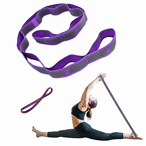AWallwinla Elastic Bands for Exercise 9 Loop Stretching Strap for Flexibility Yoga Straps Resistance Bands Children Dance Latin Splits Training Workout Physical Therapy