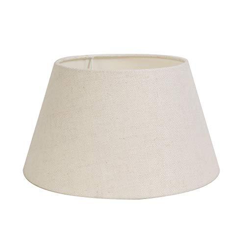Light & Living Lampenschirm Rund Konisch/Drum Livigno - Eiweiß - 40-30-22 cm - Baumwolle/Leinen