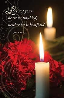 Warner Press Bulletin-Let Not Your Heart Be Troubled (John 14:27 KJV) (Pack of 100)
