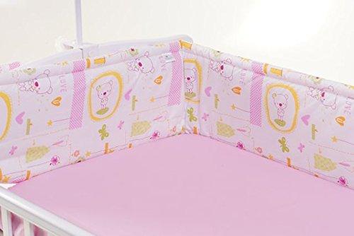 Bumper 180beidseitig für ein Bett 60x 120cm, gerade (Pink Jacadi)
