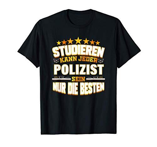 Herren Polizist Geschenk für Polizei Cop Polizeibeamter Ausbildung T-Shirt