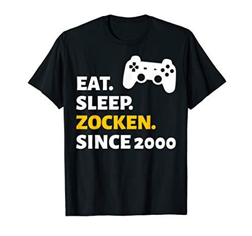 20. Geburtstag 20 Jahre Mann Frau Jahrgang 2000 Geschenk T-Shirt
