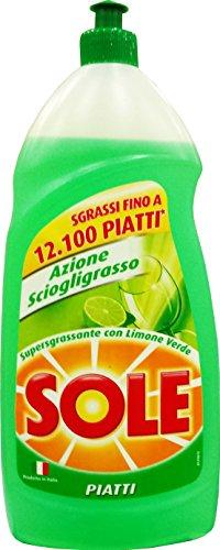 12 x SOLE PIATTI Lavapiatti Limone Verde 110 Ml